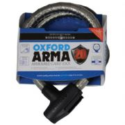 Oxford ARMA20 Armoured Cablelock 900x22mm Clear